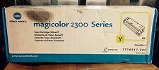 (1) KONICA MINOLTA MAGICOLOR 2300 SERIES TONER CARTRIDGE, YELLOW, NEW