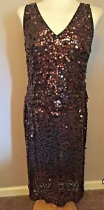 Per Una Brown Sequin Skirt & Top Suit - Size 12/14 - New With Tags - RRP = £90