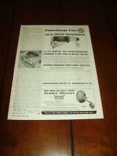 1955 JUDSON SUPERCHARGER MG   ***ORIGINAL AD***