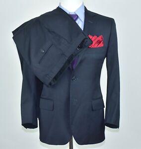 Brooks Brothers Fitzgerald Navy Blue 2pc Suit Jacket Size 38-S Pants Sz 32x28