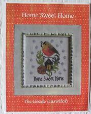 OOP Goode Huswife Cross Stitch Pattern Home Sweet Home Bird Robin