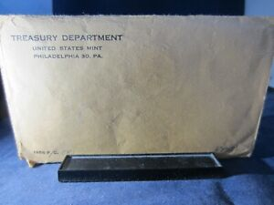 1956 US Mint PROOF Set  Phila Treasury DepEMPTY REPLACEMENT ENVELOPE Original
