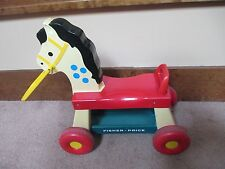 VINTAGE Fisher Price Whinny Horse Toddler Ride On Plastic Pony Toy 1976 #978