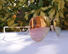 Ray-Ban Aviator 3025 (Pink) Sunglasses Lenses 58mm Mirrored Gold Frame 100%UV