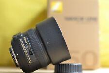 Nikon Nikkor AF-S 50mm F1.4G Prime Lens w/Original box, Lens caps and hood!