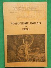 ROMANTISME ANGLAIS ET EROS C LA CASSAGNERE CENTRE ROMANTISME ANGLAIS FASC 14