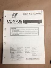 Sansui CD-X70li CD Player Service Manual *Original*