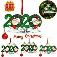 2020 Christmas Hanging Ornament Personalized Family Name DIY Xmas Tree Decor