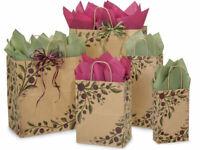 TUSCAN HARVEST Design Kraft Paper Gift Bag ONLY Choose Size & Pack Amount