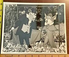 Disneyland The Great Mouse Detective Ratigan & Basil  8x10 B&W Photo