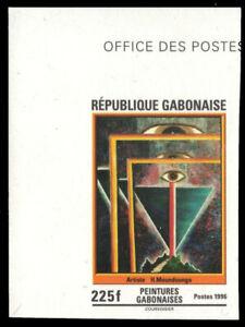 """GABON 836P - """"Eyes"""" by H. Moundounga """"Imprimateur Proof"""" (pf54054)"""