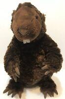 GUND Dark Brown BEAVER Plush SOFT Animal Toy Kohls Cares