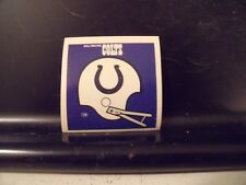 1977 NFL Football Helmet Sticker Decal Baltimore Colts Sunbeam Bread