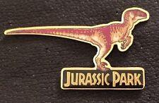 Jurassic Park ~ Velociraptor Dinosaur Metal Pin ~ 1993 Film Release ~ NOS