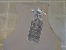 JACK DANIEL'S wrangler T-SHIRT XL 2-sided sleeveless old #7 whiskey bottle promo