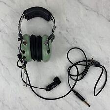 David Clark Company H10-30 Aviation Headset Green Black Noise Reduction USA