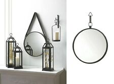 Round Mirrors For Wall Accent Hanging Decor Black Bathroom Bedroom Modern Hall