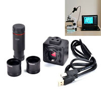 5MP Microscope USB Digital Camera Video Electronic Eyepiece w/ 0.5x Adapter Lens