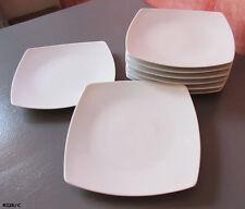 8 assiettes à dessert carrées en porcelaine de Limoges La maison  la porcelaine