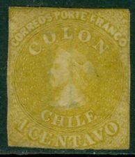 EDW1949SELL : CHILE 1862 Scott #11 Very Fine, Mint, full Original Gum. Cat $67.