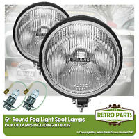 "6"" Round Fog Spot Lamps for Vintage Retro Car. Lights Main Beam Extra"