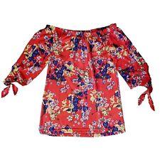 Multicolore Carmen Blouse Tunique Haut pour Femmes Chemise GR. XS