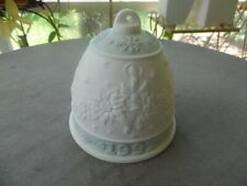Lladro Porcelain 1992 Bell Mint Green Spain Ornament No Box
