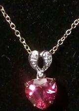 9k Flamingo Topaz & Diamond Gold Pendant