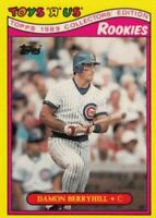 """1989 Topps Toys """"R"""" Us Rookies Baseball #4 Damon Berryhill Chicago Cubs"""