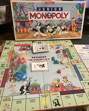 Vintage Monopoly Junior Kids Family Board Game Waddingtons 1991 Age 5-8 Complete
