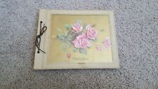 Vintage Photo Album Scrap Book 50s 60s Never Used Roses Cover Shabby