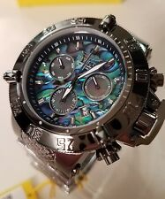 POLISHED GUNMETAL Invicta 50mm Subaqua Noma III ABALONE Swiss Watch MOP Subdials