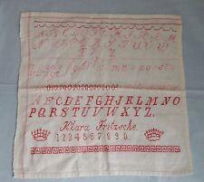 ABC Stickmustertuch Kreuzstich uralt Ostern 1910/20 Nähen Sticken Handarbeit