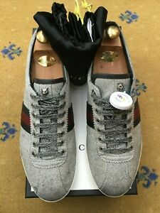 Gucci Mens Trainers Sneaker Shoes Glitter Ace UK 11 US 12 45 Web Blue Red Stud
