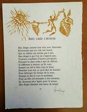 Jean Lurcat Listed Artist Signed Lithograph 4 La Fable du Monde Suite 1959