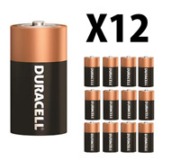 12 NEW DURACELL COPPERTOP Size C Alkaline Energized Batteries PRIORITY SHIPPING