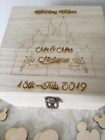 Wedding Guest Book - Personalised Wooden Rustic Alternative Disney Wish Box