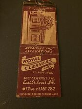 Royals Cleaners East St Louis Il Ill Illinois Matchbook Matchcover