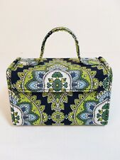 VERA BRADLEY Cambridge Mini Jewelry Box Travel Hard Case w/ Handle Retired EUC