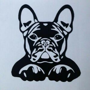 1x French Bulldog Vinyl Sticker Decal Car Camper Dog Van Bumper 4.5x5in Black