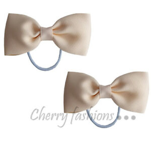 """3"""" Bow Hair inch knot Clips Girls Baby Kids Elastic Bobbles School Quality Bows"""