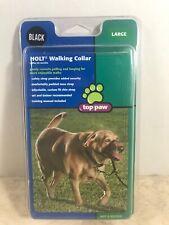 Holt TOP PAW DOG WALKING COLLAR Correct Pulling & Lunging LARGE BLACK W/MANUAL