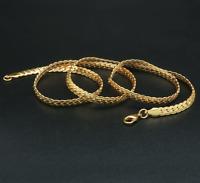 18k Goldkette Schmuck vergoldet 60cm 4MM Halskette für Damen Herren Kette 4MM