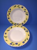 2 Pier 1 Palermo Handpainted Rimmed Salad Soup Cereal Bowls
