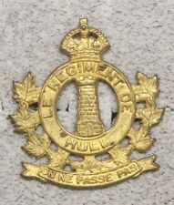 Canadian Army Badge:  le Regiment de Hull - brass