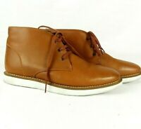 ASOS Men's Lightweight Ankle Boots Shoes Soft Leather Size 8 Shoelaces Tan Brown