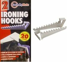 2x Over The Door Ironing Hooks Hangers Hook Clothing Holder Standard Door UK
