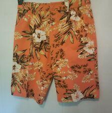 Caribbean Joe women Bermuda shorts size 6 floral print 4 pockets fly front NWT