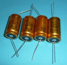 4x Roederstein ROE EGC 2200uF 25V LL long life golden Bullet Vintage Audio Grade