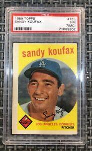 1959 Topps #163 Sandy Koufax Los Angeles Dodgers PSA 7 (MC) BLAZER